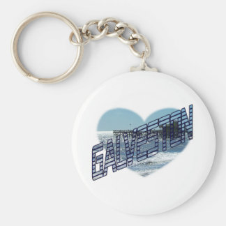 Galveston Ocean View Basic Round Button Keychain