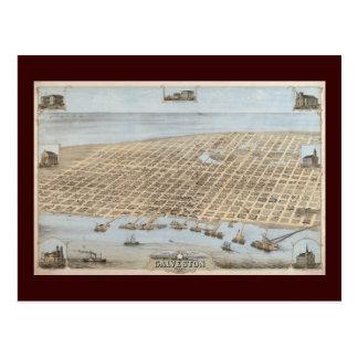 Galveston panorámico tarjeta postal