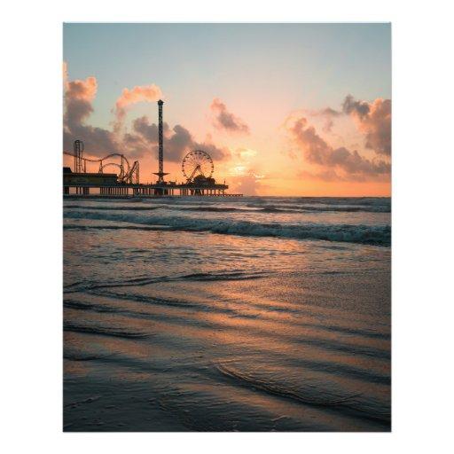 Galveston Pier Sunrise Photograph