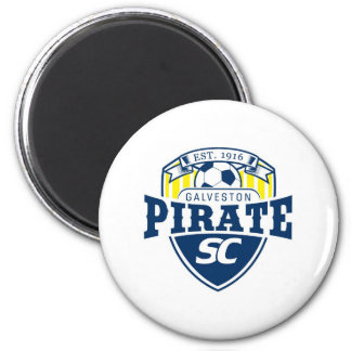 Galveston Pirate Soccer Club 2 Inch Round Magnet