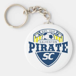 Galveston Pirate Soccer Club Basic Round Button Keychain