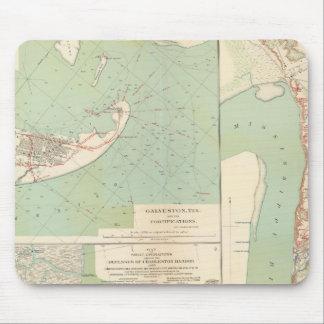 Galveston, puerto de Charleston, puerto el Hudson Tapetes De Ratón