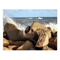 Galveston Sea Wall Postcard