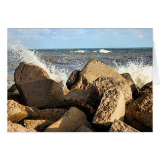 Galveston Seawall Stationery Note Card