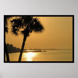 Galveston Sunset over 61st Street Posters