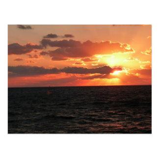 Galveston Sunset Postcard
