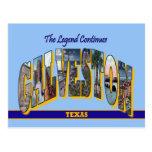 GALVESTON Texas Large Letter Postcard