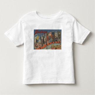 Galveston, Texas - Large Letter Scenes Shirt