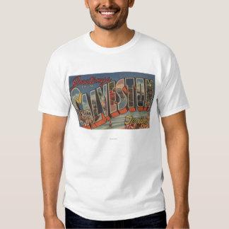 Galveston, Texas - Large Letter Scenes T-shirt