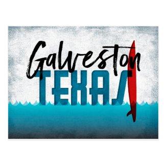 Galveston Texas Surfboard Surfing Postcard