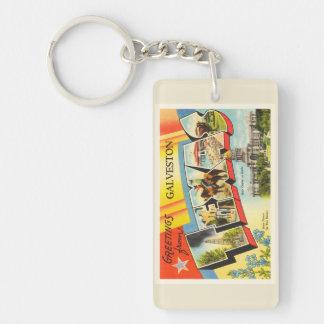 Galveston Texas TX Old Vintage Travel Souvenir Double-Sided Rectangular Acrylic Keychain