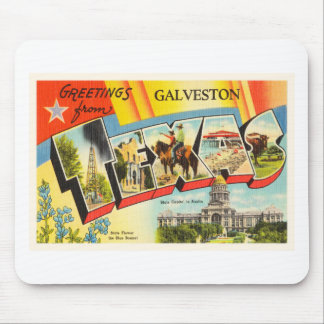 Galveston Texas TX Old Vintage Travel Souvenir Mouse Pad