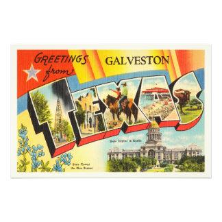 Galveston Texas TX Old Vintage Travel Souvenir Photo Print