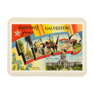 Galveston Texas TX Old Vintage Travel Souvenir Rectangular Photo Magnet