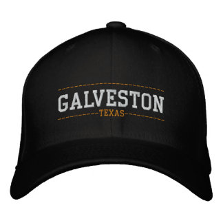 Galveston Texas USA Embroidered Hats