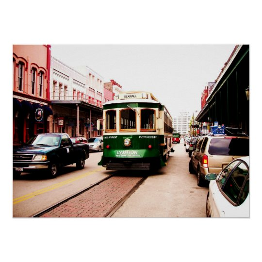 Galveston Trolley 2007 Poster