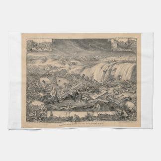 Galveston's Awful Calamity Gulf Tidal Wave (1900) Hand Towel