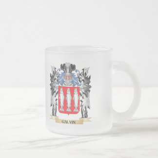 Galvin Coat of Arms - Family Crest 10 Oz Frosted Glass Coffee Mug