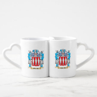 Galvin Coat of Arms - Family Crest Couples' Coffee Mug Set
