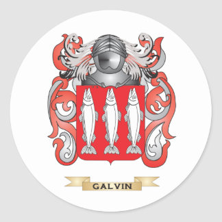 Galvin Coat of Arms (Family Crest) Round Sticker