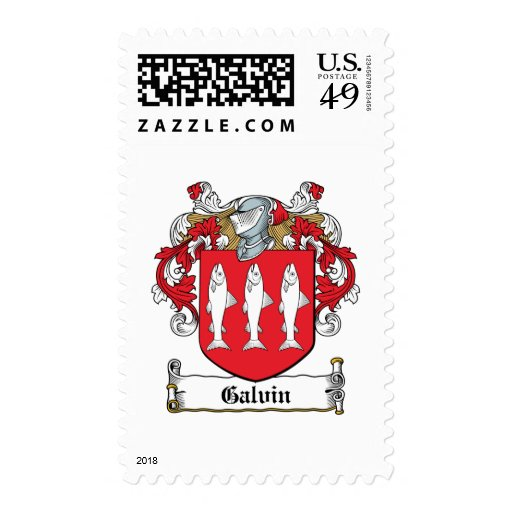 Galvin Family Crest Postage Stamp