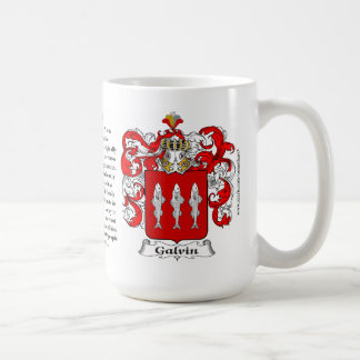 Galvin, the Origin, the Meaning and the Crest Classic White Coffee Mug