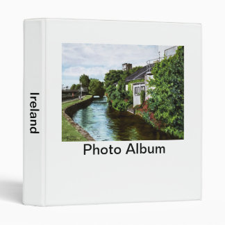 Galway City Ireland Impressionistic Watercolor Pai 3 Ring Binder