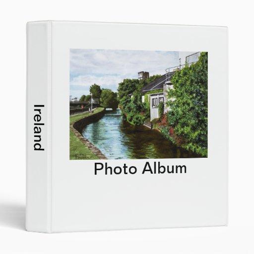 Galway City Ireland Impressionistic Watercolor Pai Vinyl Binder