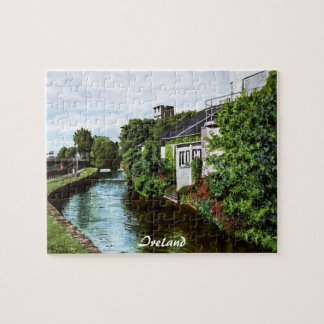 Galway City Ireland Watercolor Painting Jigsaw Puzzle