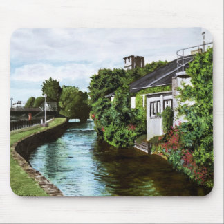 Galway City Ireland Watercolor Painting Mouse Pads