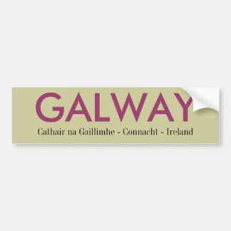 Galway Ireland Car Bumper Sticker