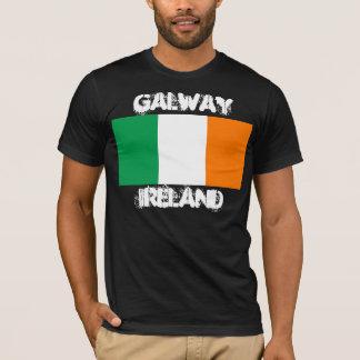 Galway, Ireland with Irish flag T-Shirt