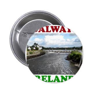Galway Irlanda 3 Pin Redondo 5 Cm