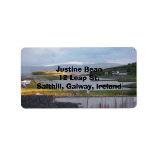 Galway Sunset Address Label