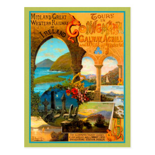 T63 Vintage Irish Ireland Galway Travel Poster Re-Print A2//A3//A4