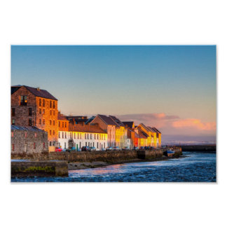 Galway's Waterfront At Sunset - 12x8 Archival Poster