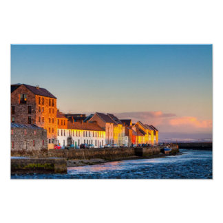 Galway's Waterfront At Sunset - 18x12 Archival Poster