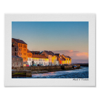 Galway's Waterfront At Sunset - Ireland - Small Poster
