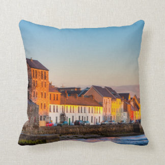 Galway's Waterfront At Sunset - Western Ireland Throw Pillow