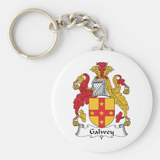 Galwey Family Crest Key Chain