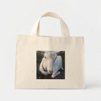 Gama blanca de la cabra de la lechería de Saanen q Bolsas Lienzo