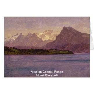 Gama costera de Alaska Tarjeta De Felicitación