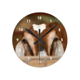 Gama de Nubian que mira a escondidas sobre el carr Reloj Redondo Mediano