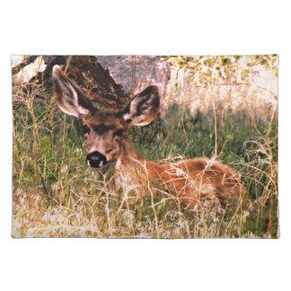 Gama del ciervo mula manteles