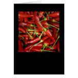 Gama del regalo de las pimientas de chiles rojos tarjeton