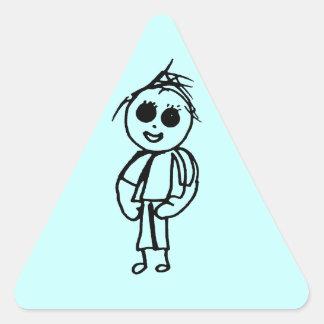 Gama del regalo de los dibujos de Chloe Pegatina Triangular