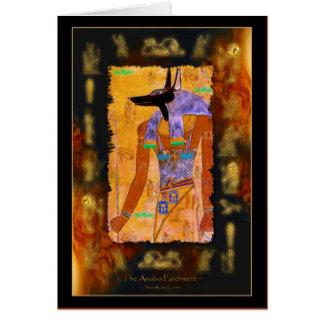 Gama egipcia antigua del regalo de Anubis de dios Tarjeta De Felicitación