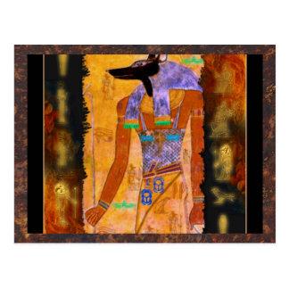 Gama egipcia antigua del regalo de Anubis de dios Tarjeta Postal