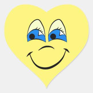 Gama feliz de la cara calcomanías de corazones