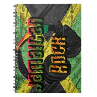 Gama jamaicana de la bandera de la roca libreta espiral